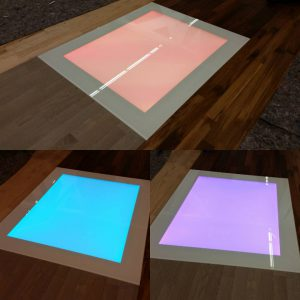 LED floor module for shop and trade fair construction